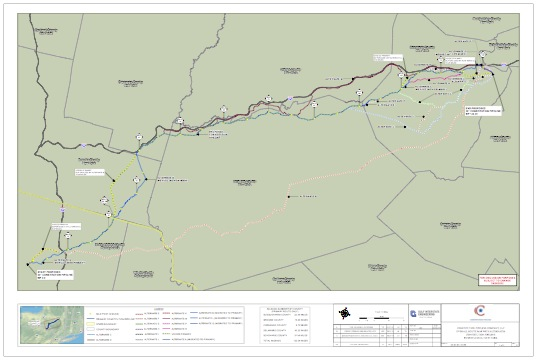 Constitution Pipeline Alternate Routes as of September 5, 2012