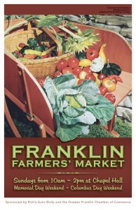 Franklin Farmers' Market 2012 poster by Sondra Freckleton