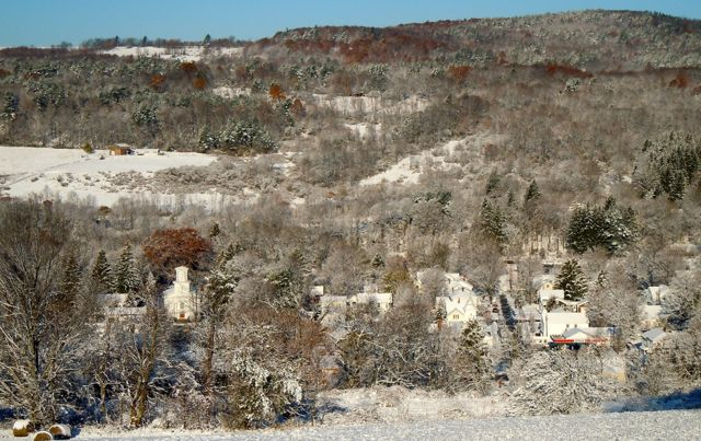 Franklin in Winter, photo by Shirley Ferguson