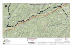 Constitution Pipeline - Delaware County (NY) map - Revised 01/11/13