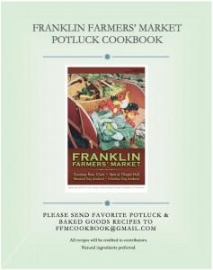 Franklin Farmers' Market Cookbook - call for recipes