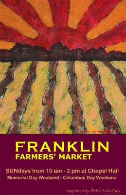 2009 Franklin Famers' Market Poster by Edmond Rinnooy Kan