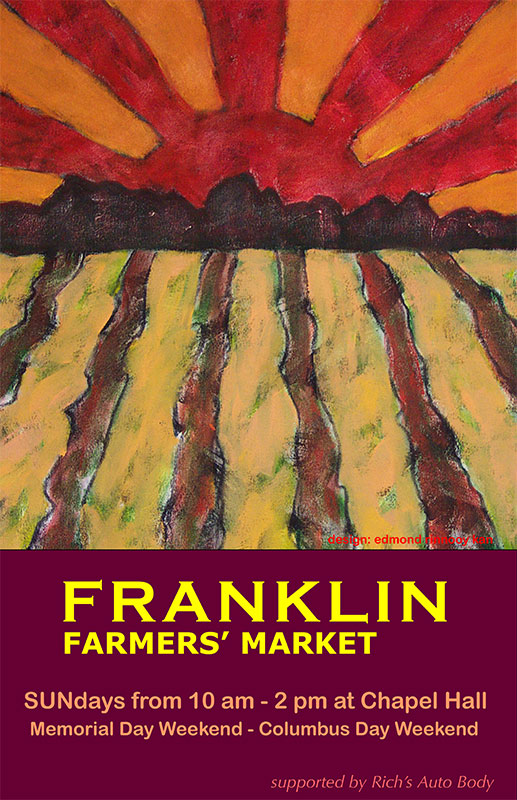 2009 Franklin Farmers' Market Poster by Edmond Rinnooy Kan