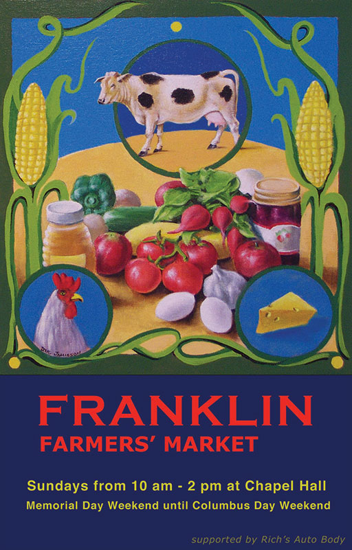 2010 Franklin Farmers' Market Poster by Doug Jamieson