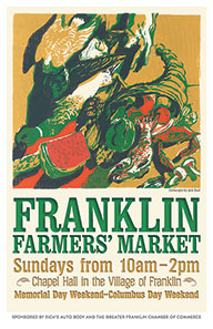 2013 Franklin Farmers' Market poster by Jack Beal
