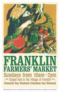 2013 Franklin Famers' Market Poster by Jack Beal