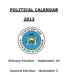 NYS Political Calendar 2013 (PDF, click to download)
