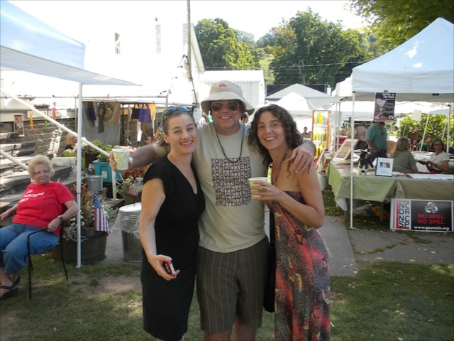 Friends meet at the Franklin Farmers' Market