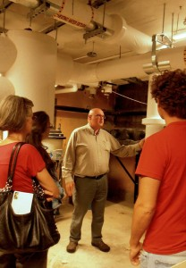 Touring the basement