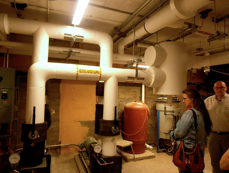 The heart of the system: pumps and manifolds in the basement