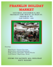 Franklin Holiday Market poster
