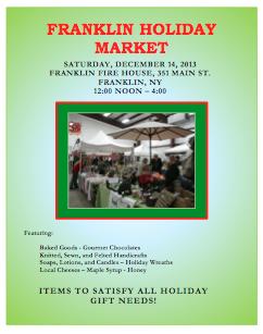 Franklin Holiday Market poster