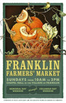 2014 Franklin Famers Market Poster by Judith Lamb