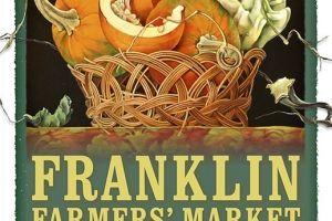 2014 Franklin Farmers' Market poster - artwork by Judith Lamb