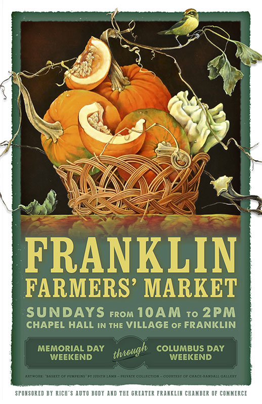 2014 Franklin Farmers' Market poster - artwork by Judith Lamb