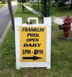 photo of Franklin NY pool sign