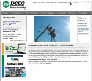 Delaware County Electric Cooperative (DCEC) website