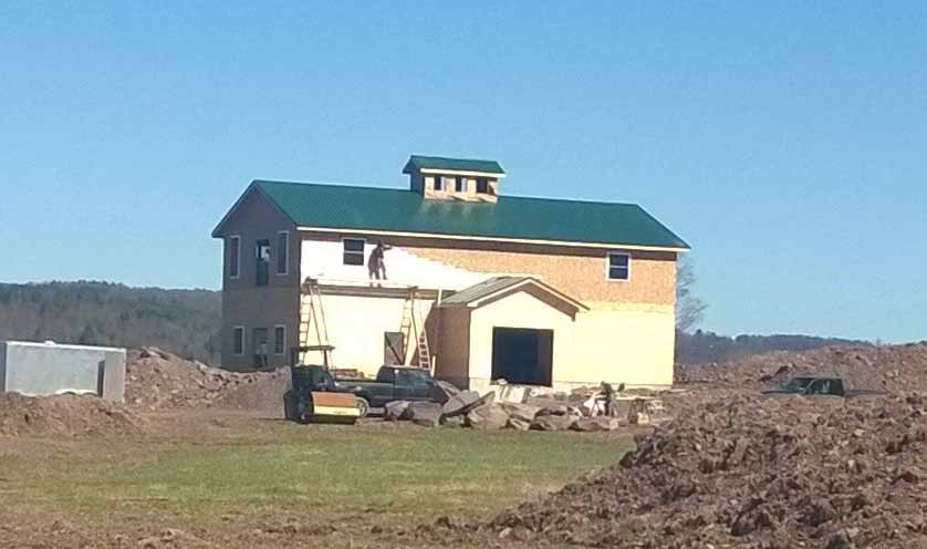 The new Handsome Brook Farm barn on Franklin Heights.  Photo by Brian Brock