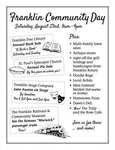 Franklin Community Day flyer