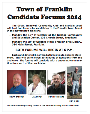 2014 Franklin Town Council Forums
