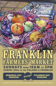 2015 Franklin Farmers' Market poster - artwork by Rhonda Harrow