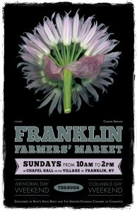 Franklin Farmers' Market poster 2017 by Charlie Bremer