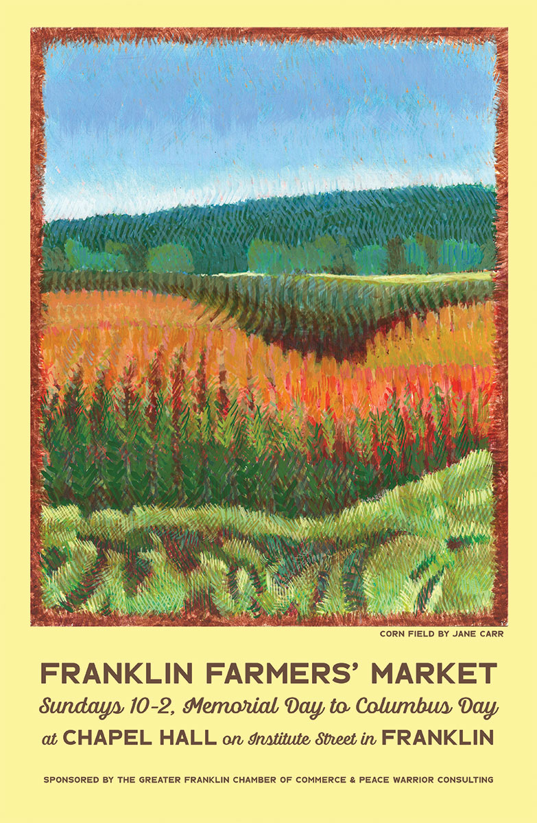 Franklin Farmers' Market every Sunday from Memorial Day weekend to Columbus Day weekend from 10am to 2pm