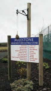 The Milestone weather forecasting stone from geograph.org.uk