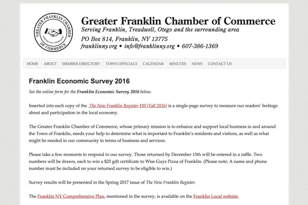 Economic Development Survey