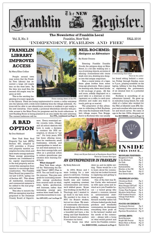 New Franklin Register #30