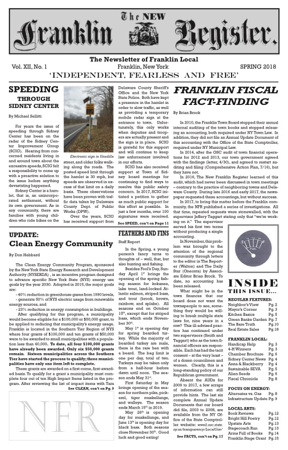 New Franklin Register #34