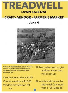 Treadwell NY lawn sale day June 9