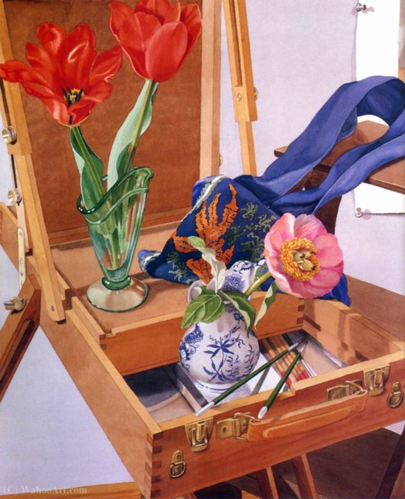 freckelton-easel-painting