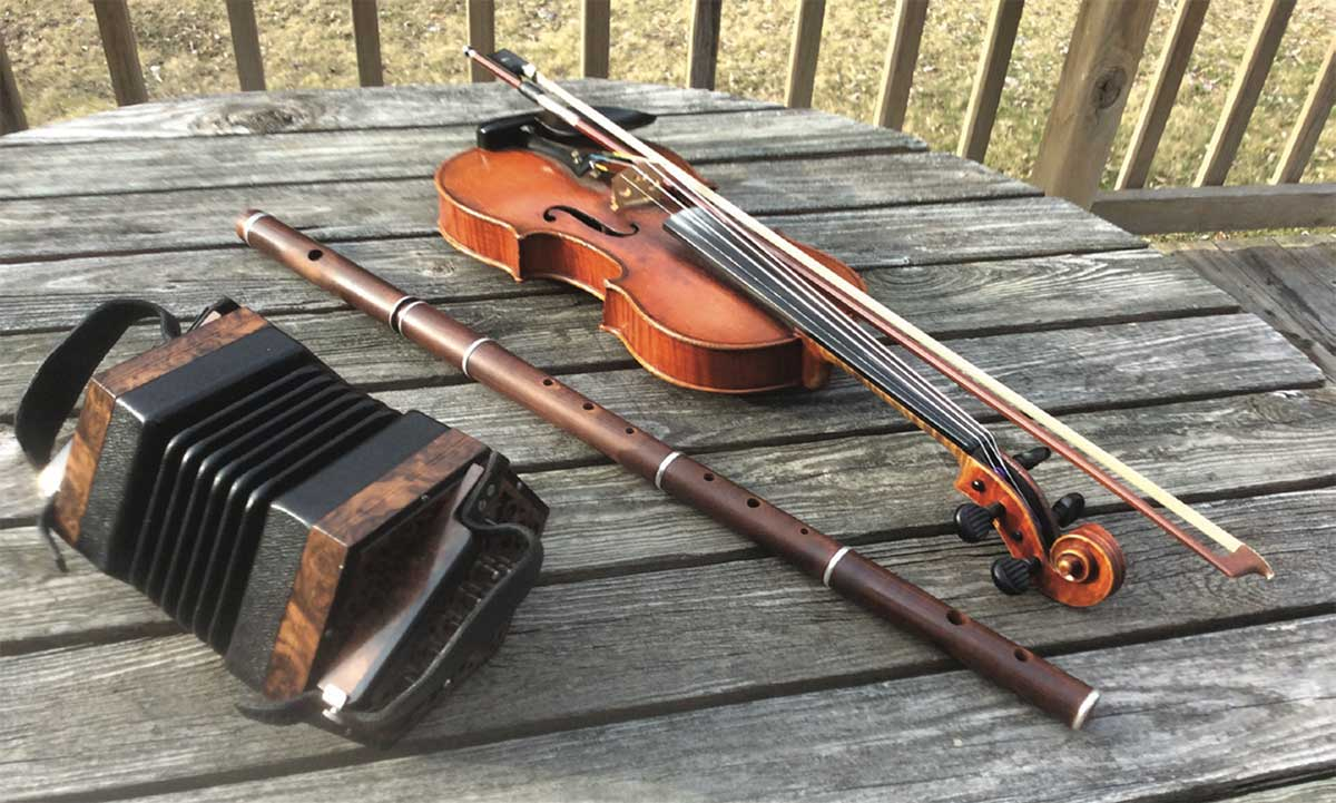 Local Seisiún's traditional Irish instruments