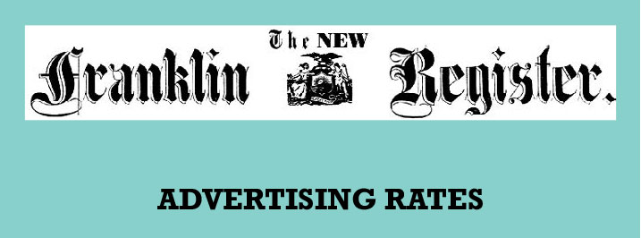 Advertise with the New Franklin Register