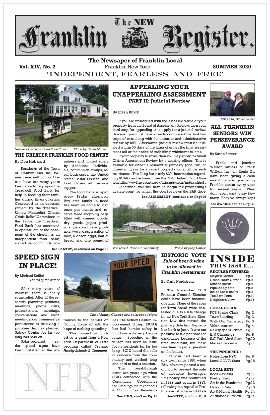 New Franklin Register, Summer 2020, issue #40