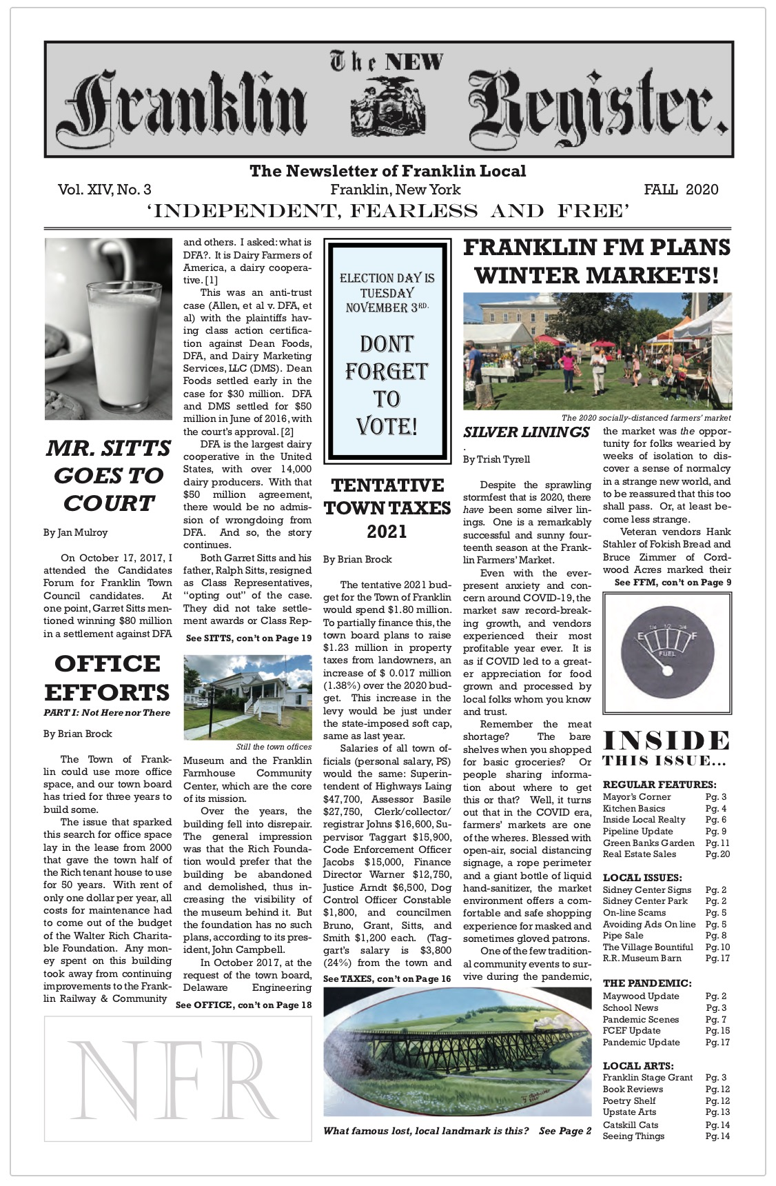 New Franklin Register, Fall 2020, issue #41